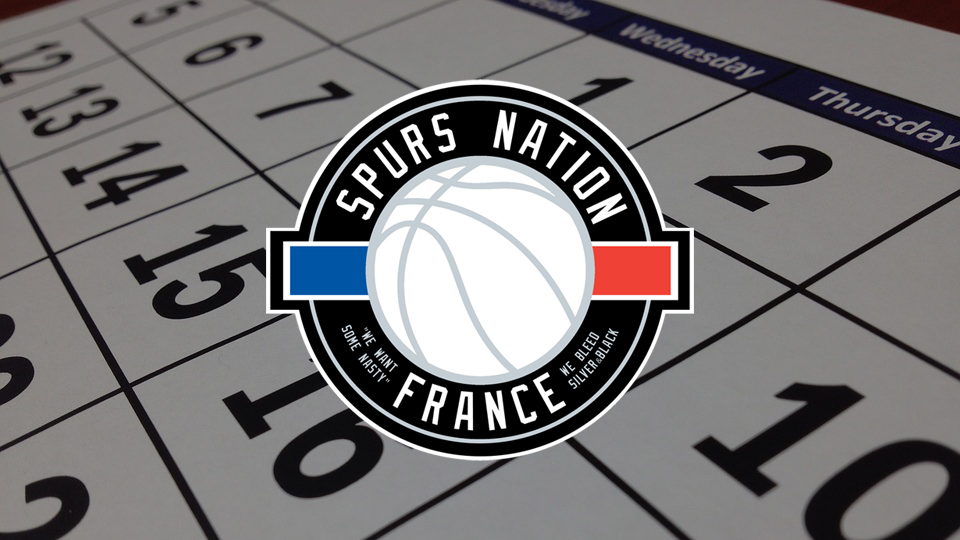 Calendrier activité Spurs Nation France