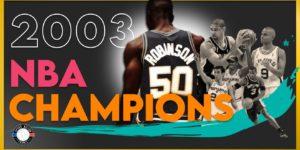 David Robinson a tiré sa révérence sur le titre de champion NBA, en 2003.